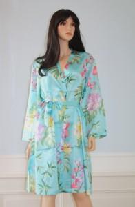 Kimono Seide Karibik Azur von Eva B. Bitzer