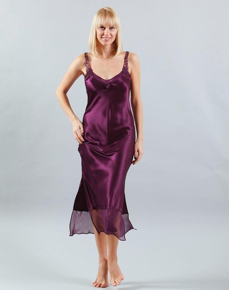 reputable site 31568 af180 Langes Nachtkleid aus Seide Rosaly von Eva B. Bitzer
