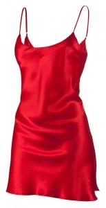 Rotes Unterkleid aus Seide von Eva B. Bitzer