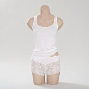 Seiden- Unterhemd Offwhite (Weiß) Curacao von Gattina Dessous