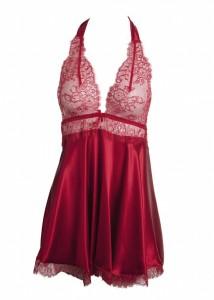 Sally Jones: Seiden- Baby-Doll Tiffany rubin-rot