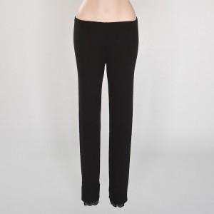 Wolle-Seide Unterwäsche Lange Unterhose Farbe schwarz