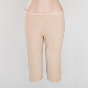 Wolle-Seide Unterwäsche Capri-Leggins Farbe haut
