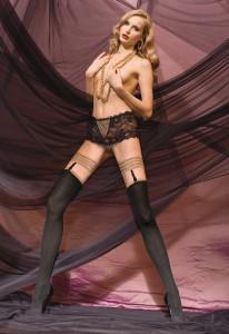 Strapsstrumpf Sensual und Spitzen-Slip Eros von Trasparenze