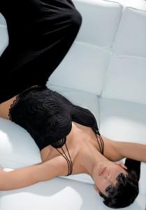 Tüll-Corsage Thea schwarz von Exilia Lingerie