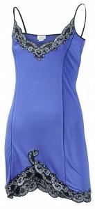 Seidennachthemd royal-blau aus Seidenjersey von Gattina
