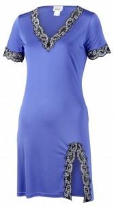 Nachtkleid Seide royalblau aus Seidenjersey von Gattina