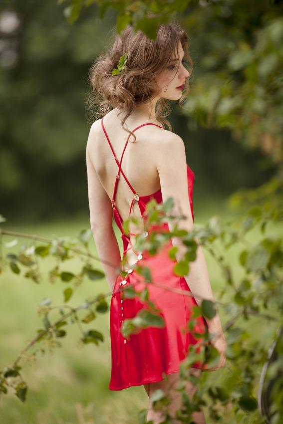 new styles 6a5aa c678c Valentins-Nachthemd aus Seide von Marjolaine… » Seidenwald ...