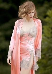 Marjolaine Negligé Jardin rosé-silber