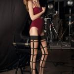 Halterloser Straps-Optik Strumpf Grammy von Trasparenze