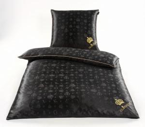 Glööckler Luxus Seidenbettwäsche schwarz-gold
