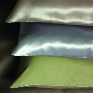 Seide Kissenbezug Helios in bunten Farben von der Plauener Seidenweberei