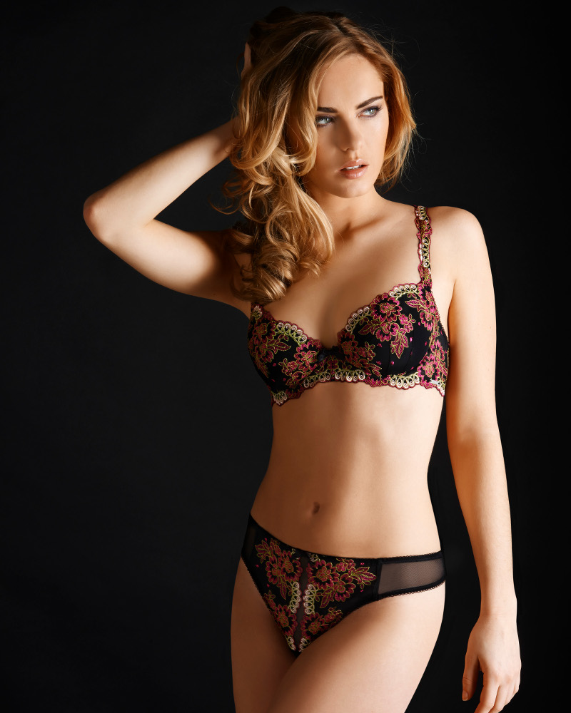 Millesia New Diamond schwarz-fuchsia Dessous